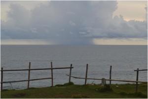 Pantai Ranca Buaya dilihat dari Puncak Gua.