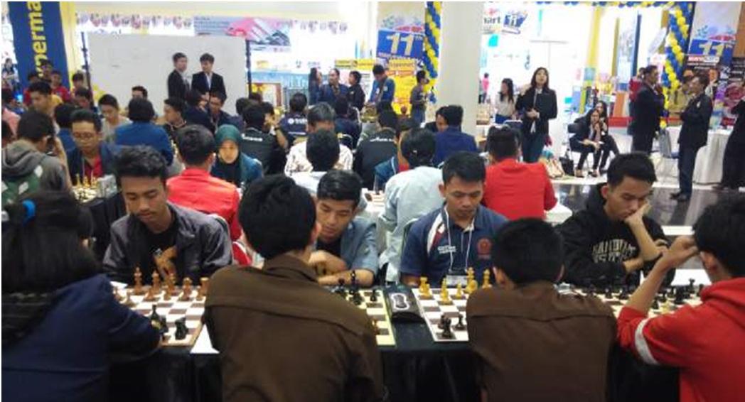 Catur UPI Masuk 10 Besar Kejuaraan Nasional Petra Surabaya