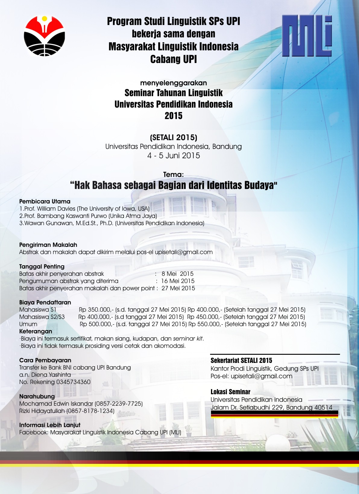 Poster SETALI 2015