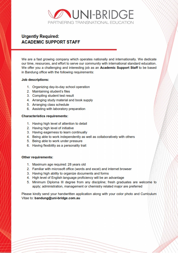 UB tempt Job Vacancy academic administrator_001