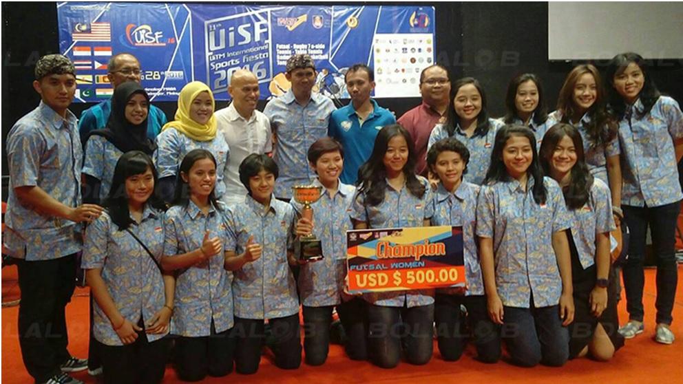Skuad Tim Futsal Putri UPI terdiri atas Galis Nurfitiryana (GK), Anira (Capt), Milda Asyifa , Yunita Sari, Siti Latipah , Linda Arman (GK).