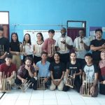 AN ANGKLUNG WORKSHOP WITH INTERNATIONAL STUDENTS